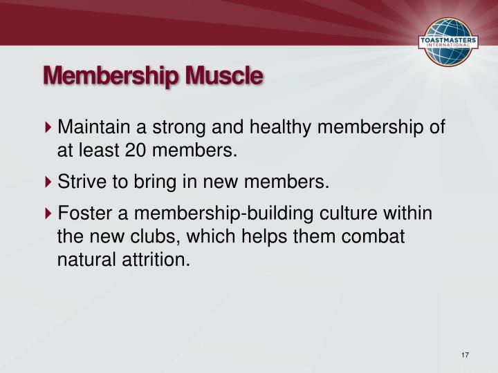 Membership Muscle