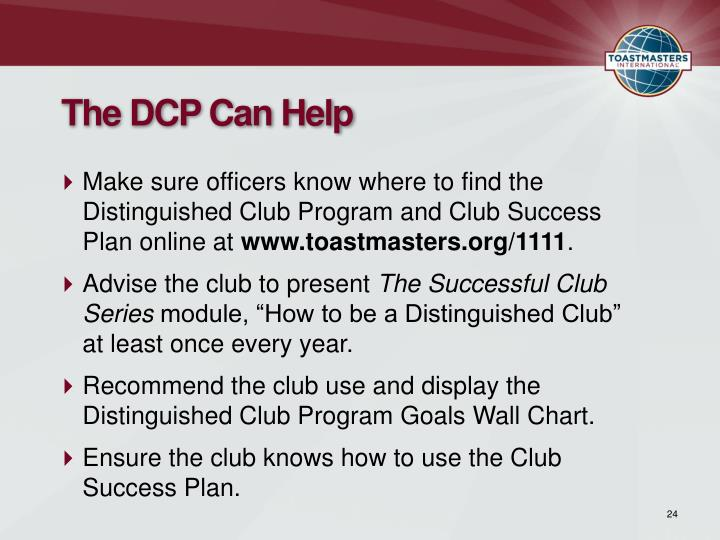The DCP Can Help