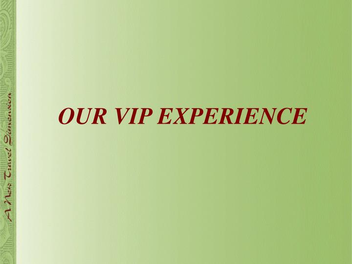 OUR VIP EXPERIENCE
