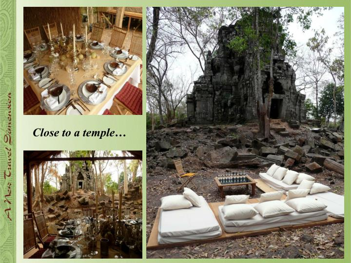 Close to a temple…