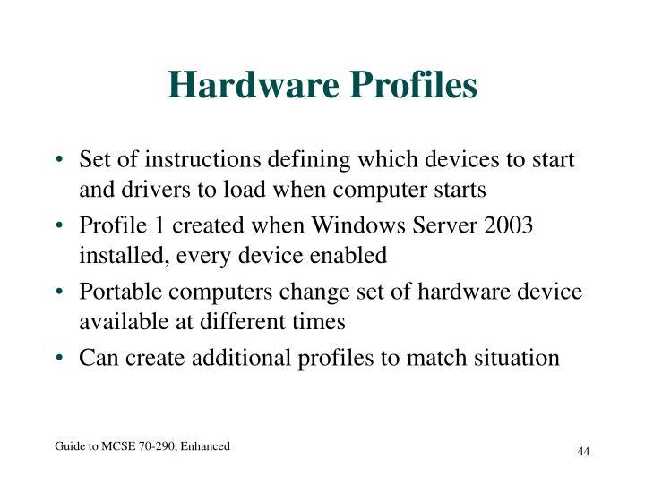 Hardware Profiles