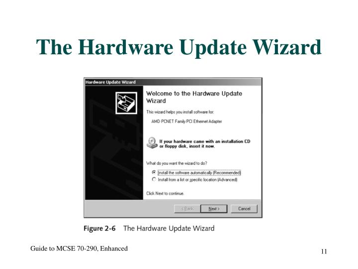 The Hardware Update Wizard