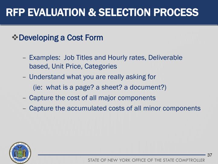RFP Evaluation & Selection Process
