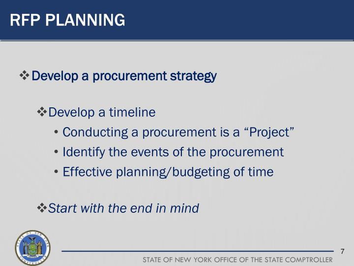 RFP Planning