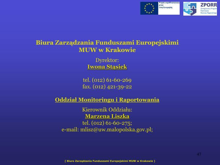 Biura Zarzdzania Funduszami Europejskimi