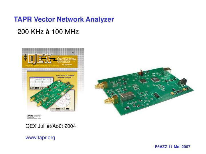 TAPR Vector Network Analyzer