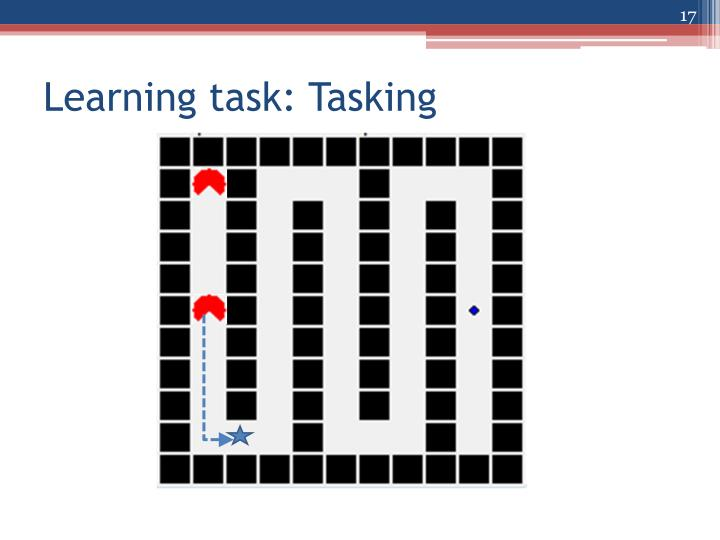Learning task: Tasking