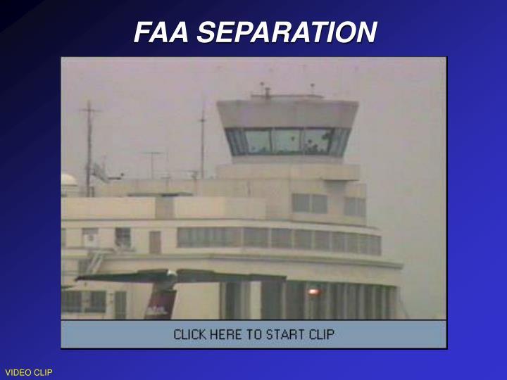 FAA SEPARATION