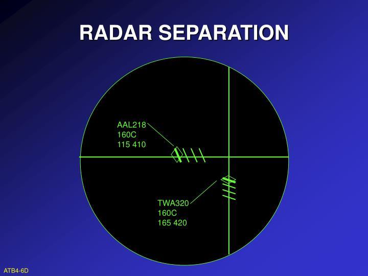 RADAR SEPARATION