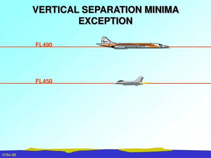 VERTICAL SEPARATION MINIMA EXCEPTION
