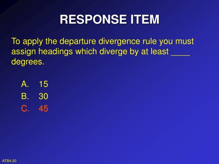 RESPONSE ITEM