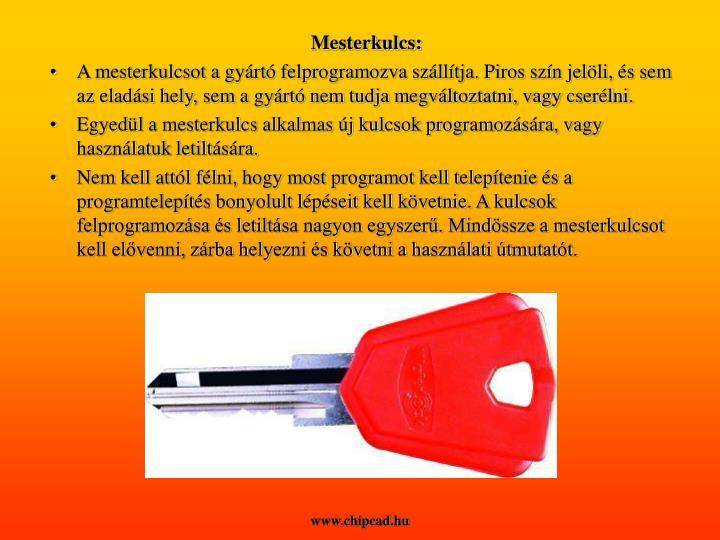 Mesterkulcs: