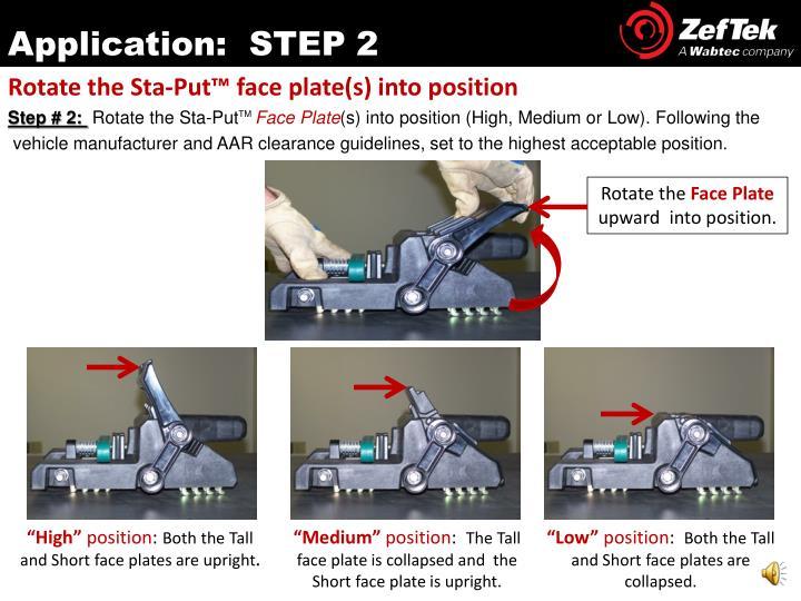 Application:  STEP 2