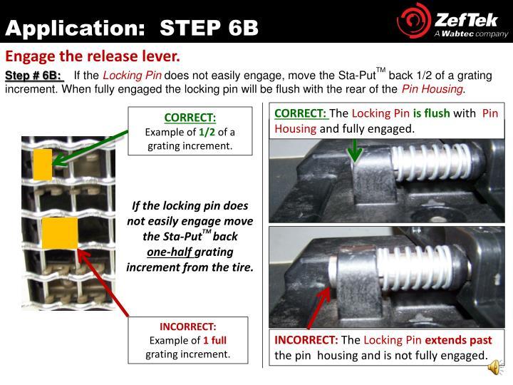 Application:  STEP 6B