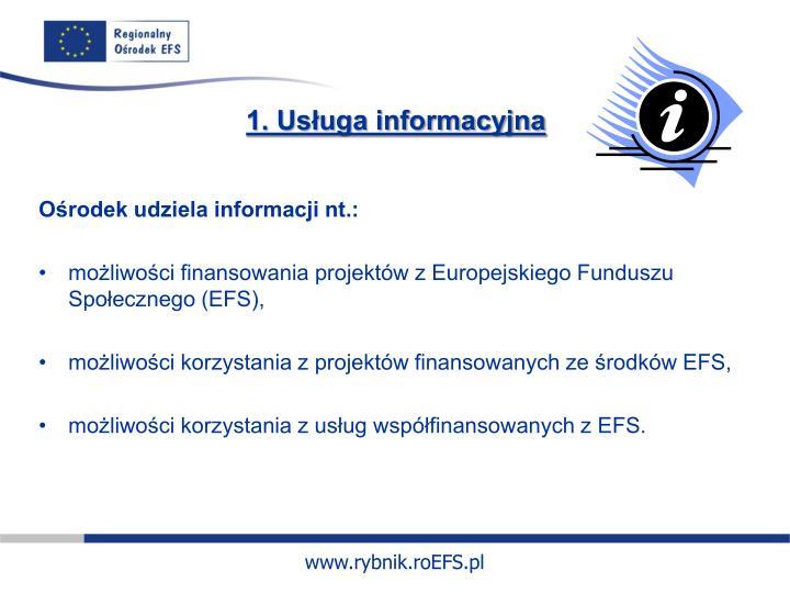 1. Usługa informacyjna