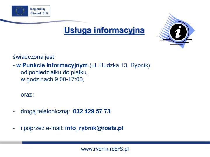 Usługa informacyjna