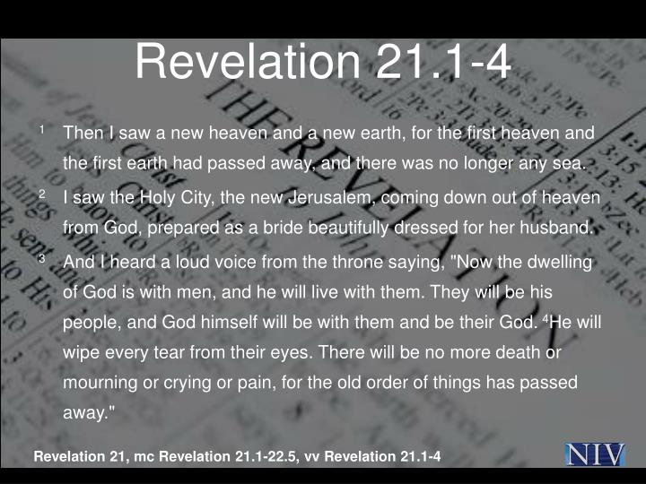 Revelation 21.1-4