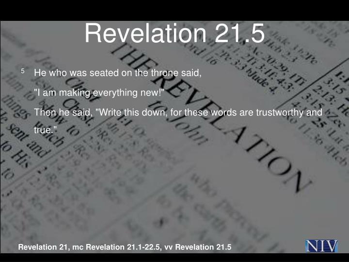 Revelation 21.5