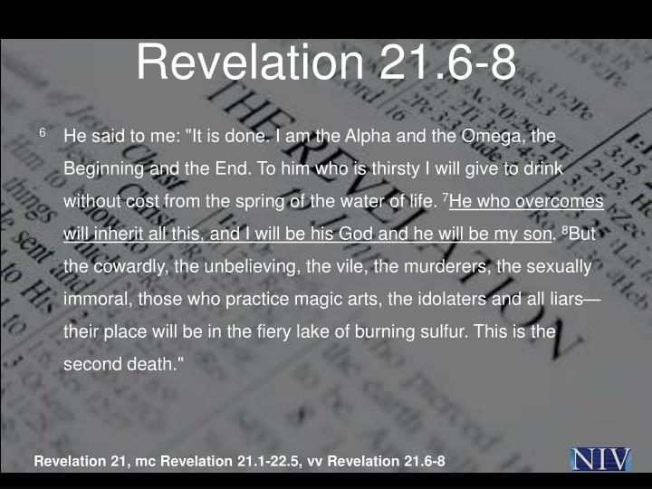 Revelation 21.6-8