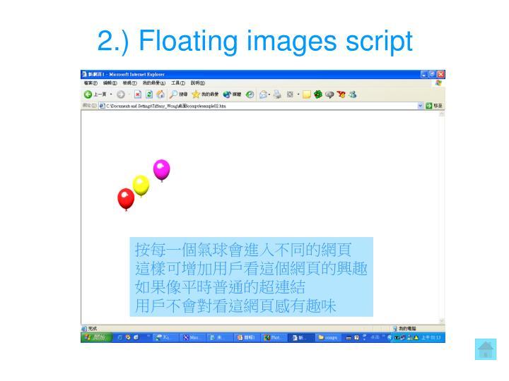 2.) Floating images script