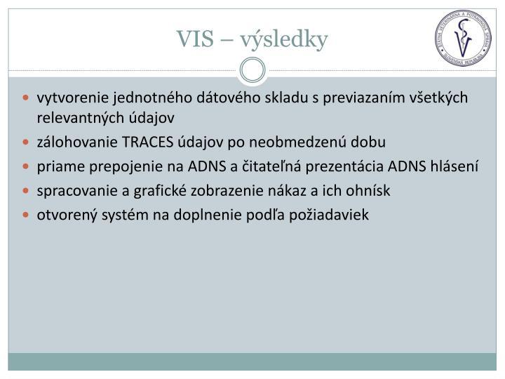 VIS – výsledky