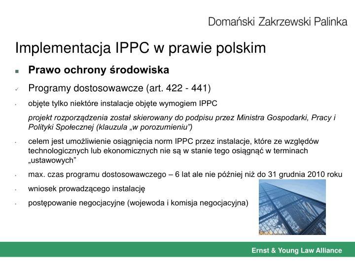 Implementacja IPPC w prawie polskim