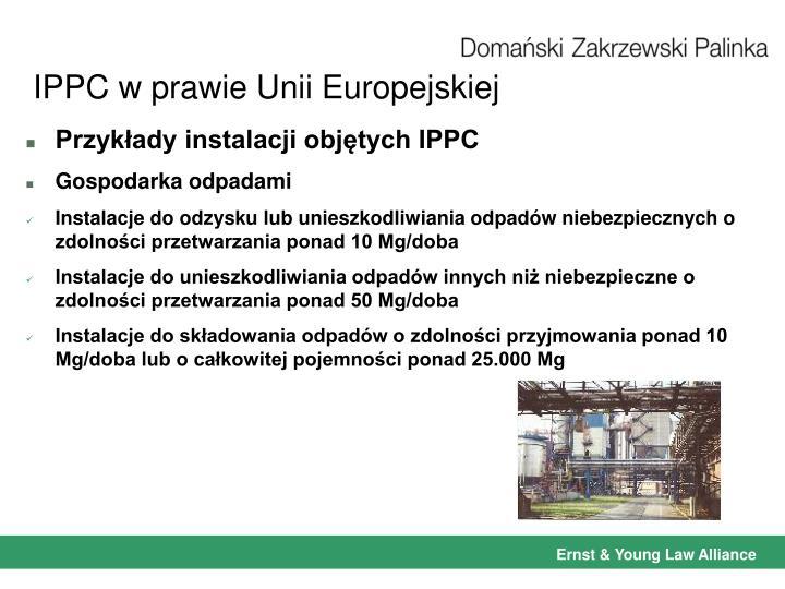 IPPC w prawie Unii Europejskiej