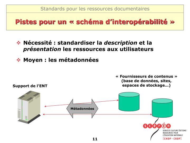 Pistes pour un «schéma d'interopérabilité»