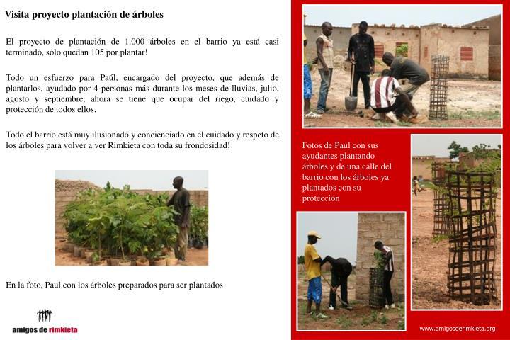 Visita proyecto plantación de árboles