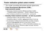 faster realisation global carbon market1