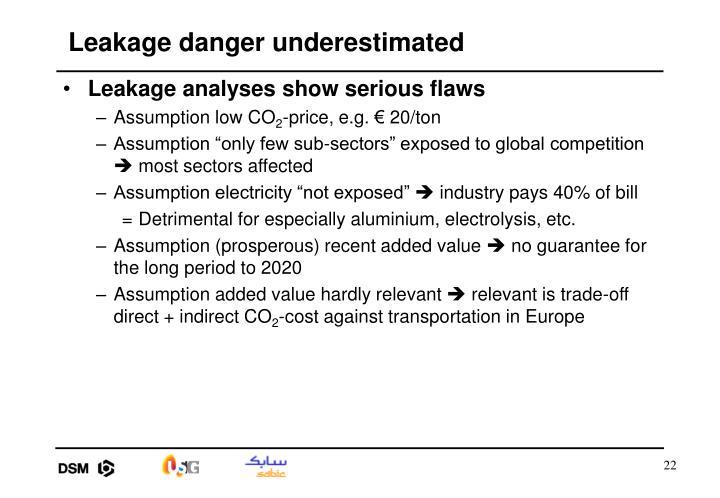 Leakage danger underestimated