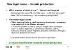 new legal cases historic production