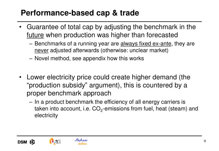 Performance-based cap & trade