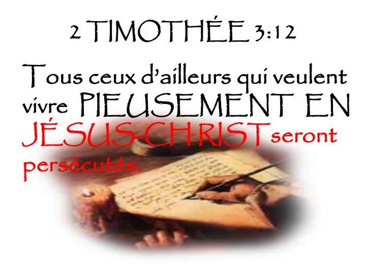 2 TIMOTHÉE 3:12