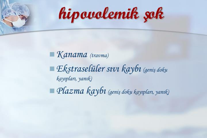 hipovolemik