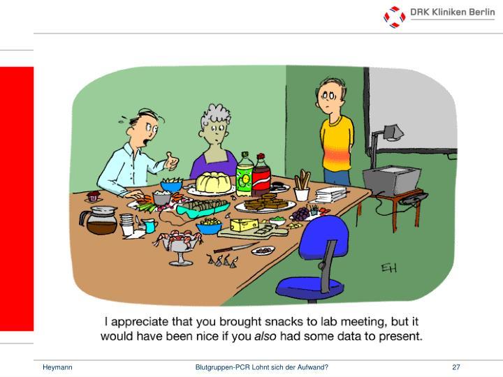 Blutgruppen-PCR Lohnt sich der Aufwand?
