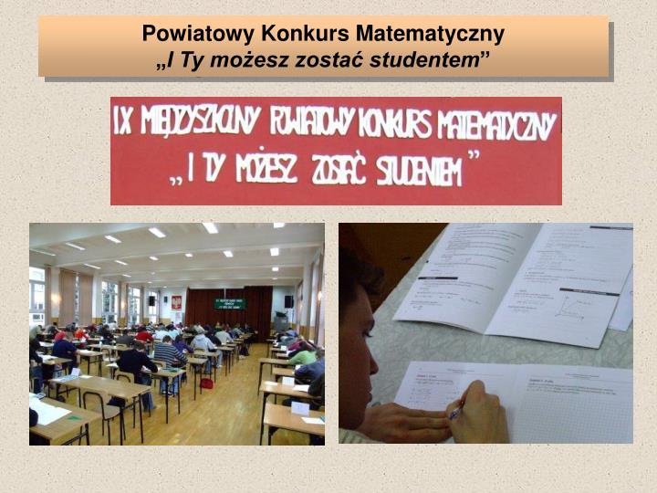 Powiatowy Konkurs Matematyczny