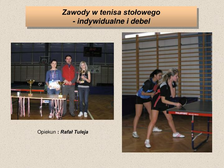 Zawody w tenisa stołowego