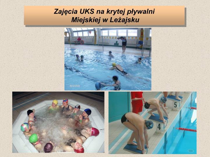 Zajęcia UKS na krytej pływalni