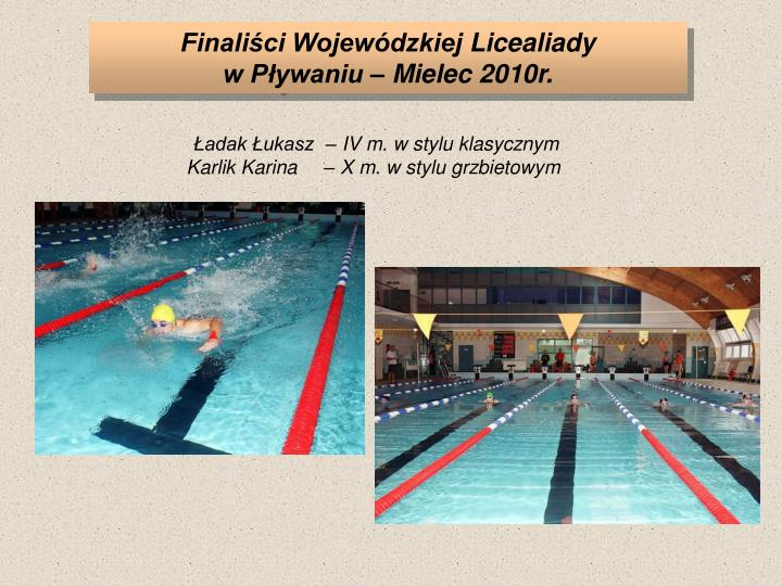 Finaliści Wojewódzkiej