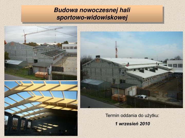 Budowa nowoczesnej hali