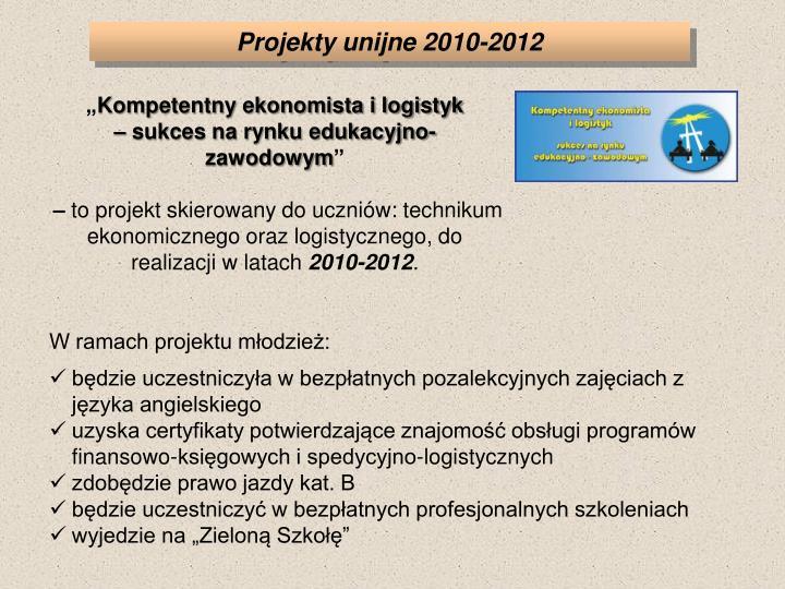 Projekty unijne 2010-2012