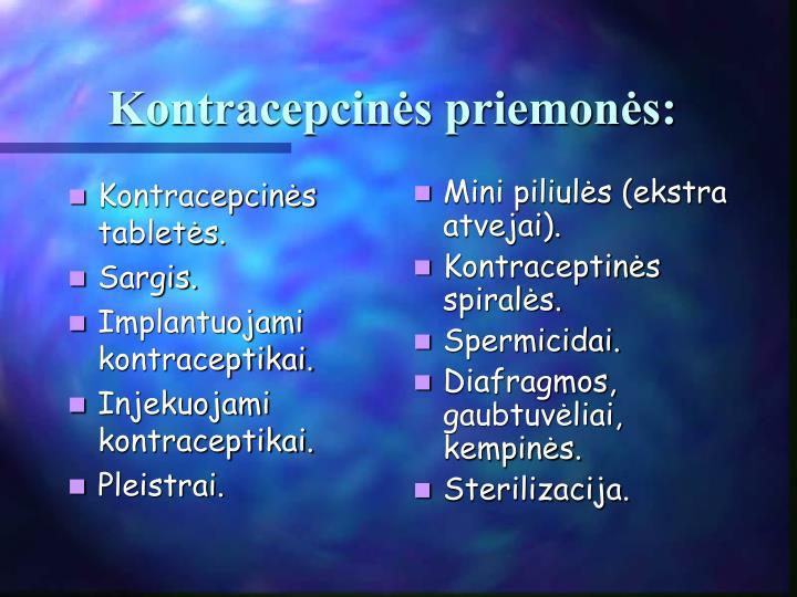 Kontracepcinės tabletės.