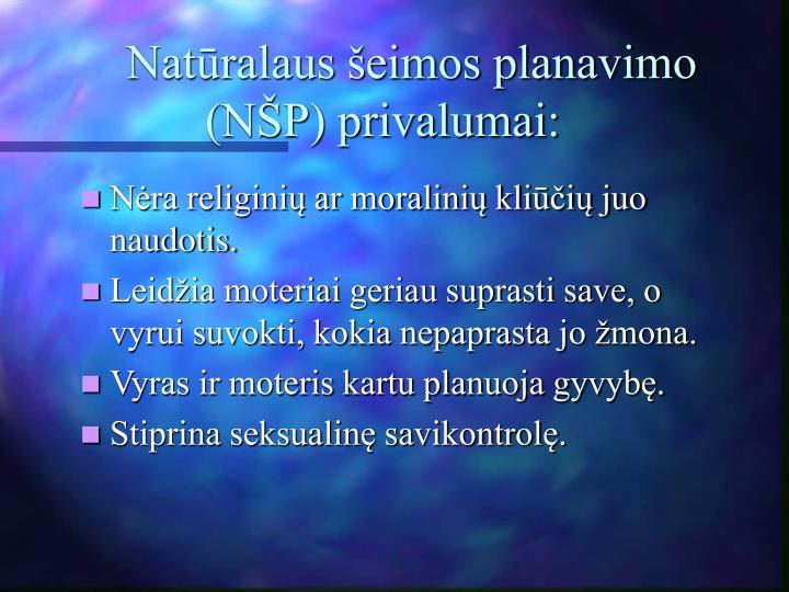 Natūralaus šeimos planavimo