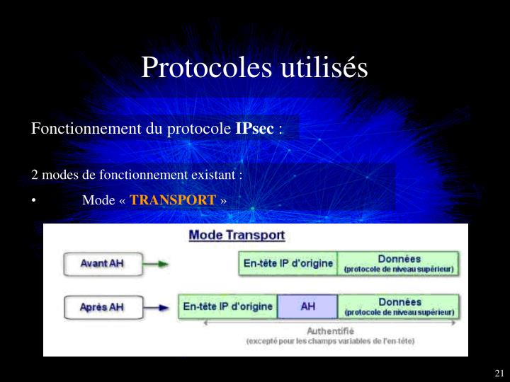 Protocoles utilisés