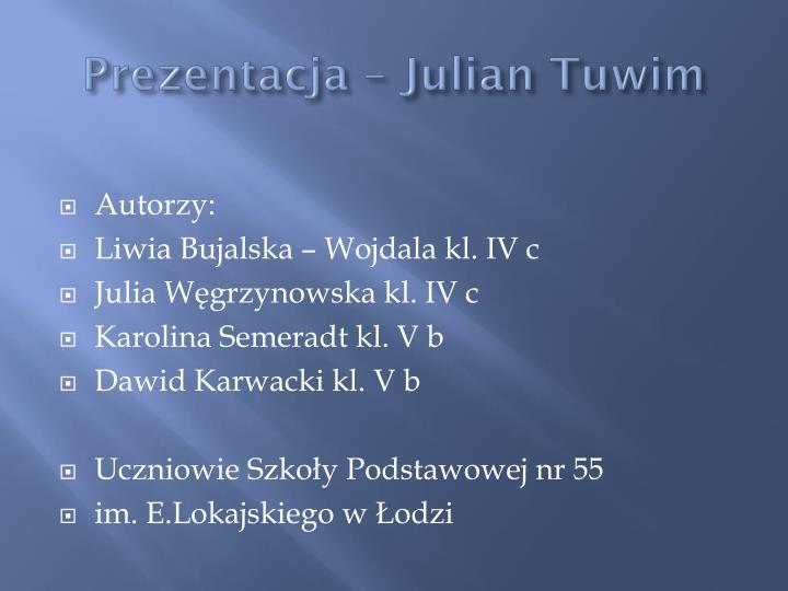 Prezentacja – Julian Tuwim