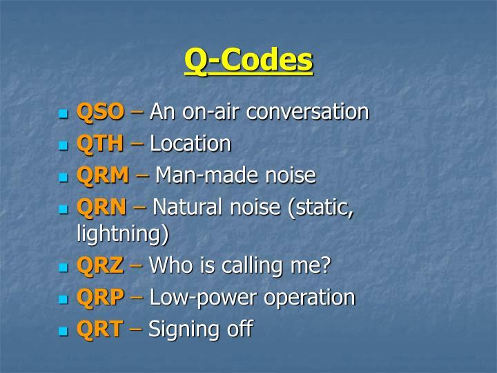 Q-Codes