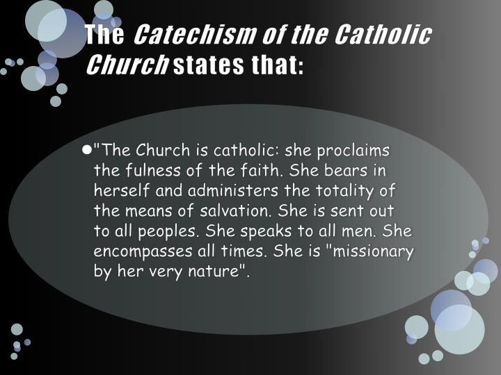 the four marks of the catholic church religion essay The unity of the church can be seen in the unity of faith, worship, and leadership   the first mark: one how do we know that the catholic church possesses the  four  work with a partner to write a bullet-point summary of the catechism, no.