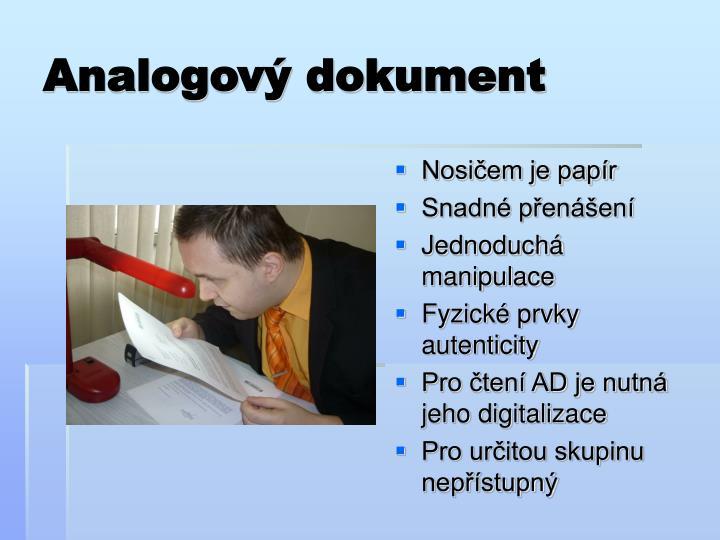 Analogový dokument