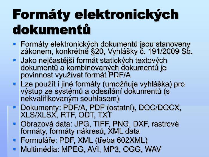 Formáty elektronických dokumentů